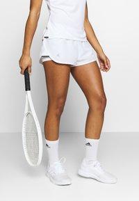 adidas Performance - CLUB - Sports shorts - white/silver/black - 0