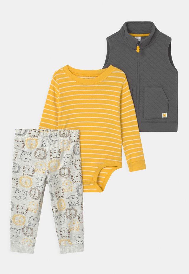 LION SET - Väst - yellow/dark grey