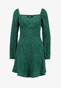 Missguided Tall - MILKMAID SKATER DRESS POLKA - Day dress - green - 5