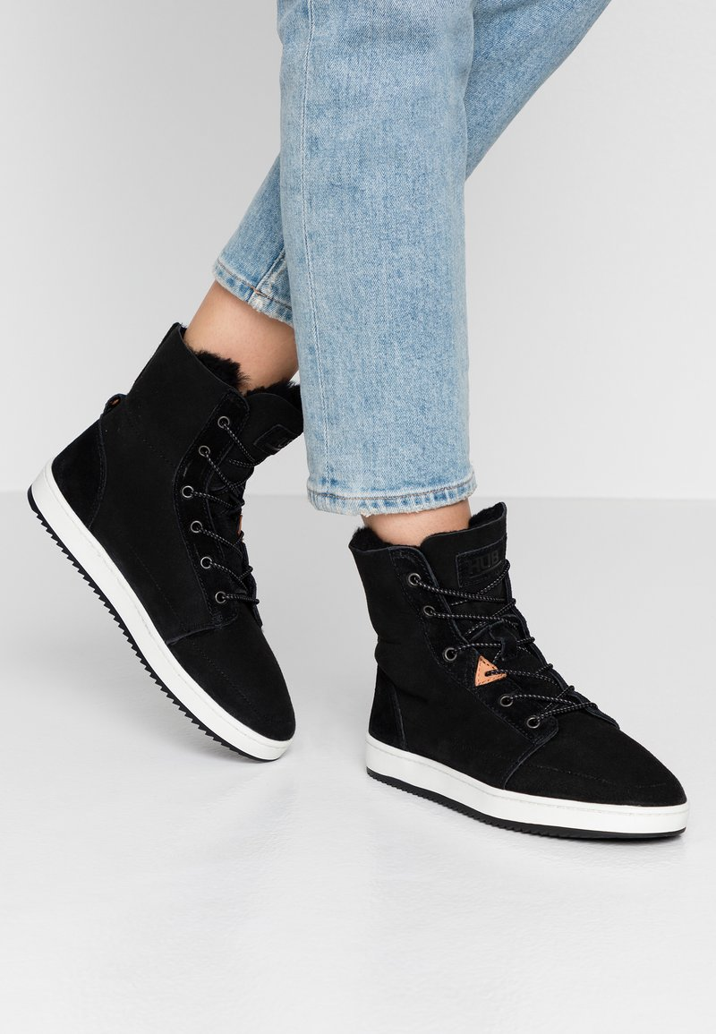 HUB - CHES 2.0 - Lace-up ankle boots - black/offwhite