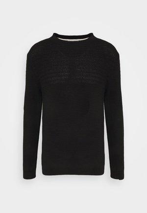 SLHCONRAD CREW NECK - Jumper - black