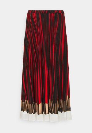 WOMENS SKIRT - Gonna a campana - red/black