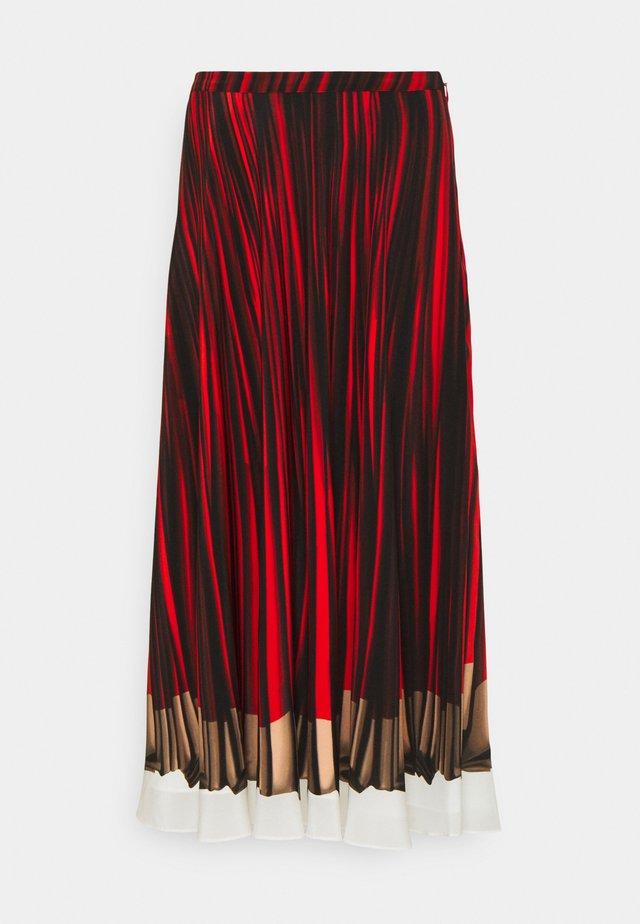 WOMENS SKIRT - Jupe trapèze - red/black