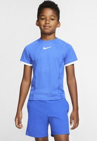 Nike Performance - DRY - Printtipaita - game royal/game royal/white/white - 0
