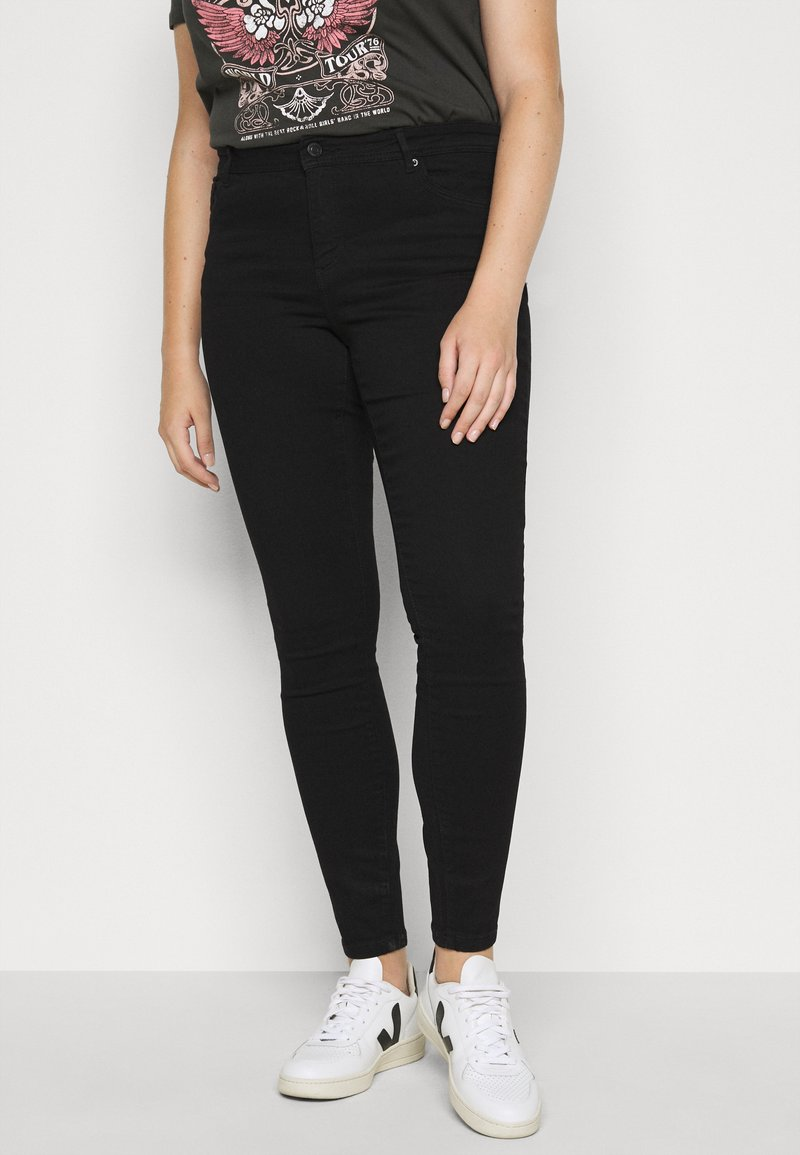 Vero Moda Curve - VMTANYA PIPING - Jeans Skinny Fit - black