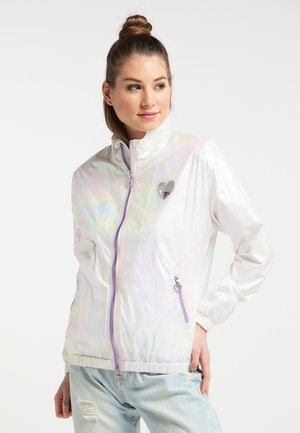 Waterproof jacket - white holographic
