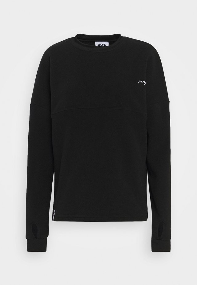 BOXY - Fleece jumper - black
