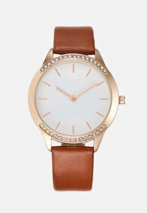 Hodinky - cognac/rose gold-coloured