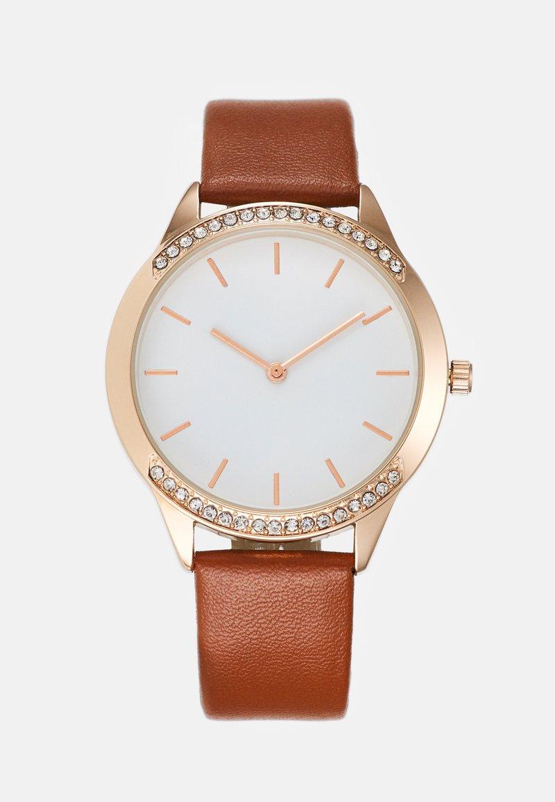 Anna Field - Watch - cognac/rose gold-coloured