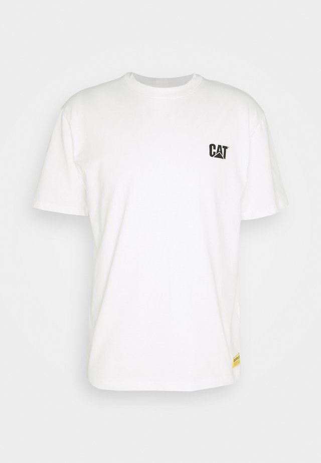 CAT SMALL LOGO - T-shirt con stampa - cream
