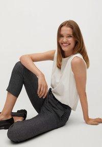 Mango - BORECUAD - Trousers - grey - 4