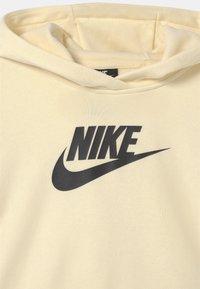 Nike Sportswear - CLUB CROP HOODIE - Sudadera - coconut milk/black - 2