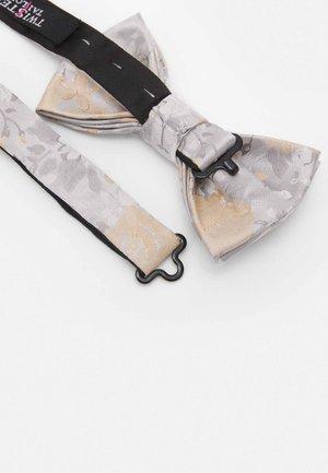 NILUS BOWTIE - Bow tie - champagne/grey