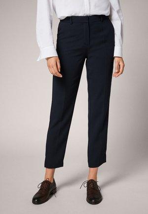 REGULAR: - Trousers - dark blue