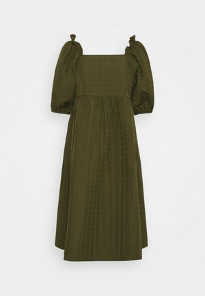 SLFGINNA MIDI DRESS - Denní šaty - olive night