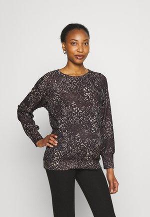 Long sleeved top - black/beige