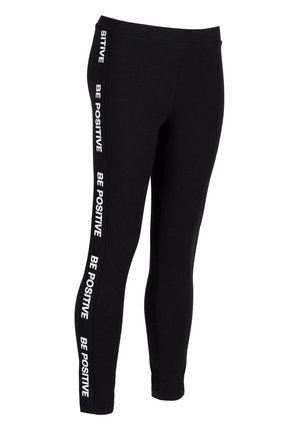 MIT GALONSTREIFEN - Leggings - Trousers - black