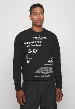 S-GIRK-FOLDED SWEAT-SHIRT - Sweater - black