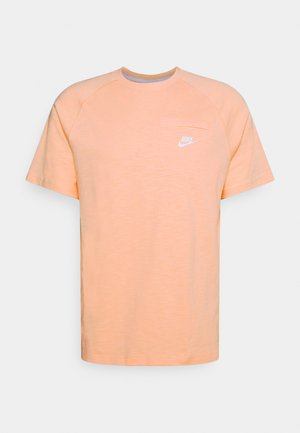 Basic T-shirt - arctic orange/white