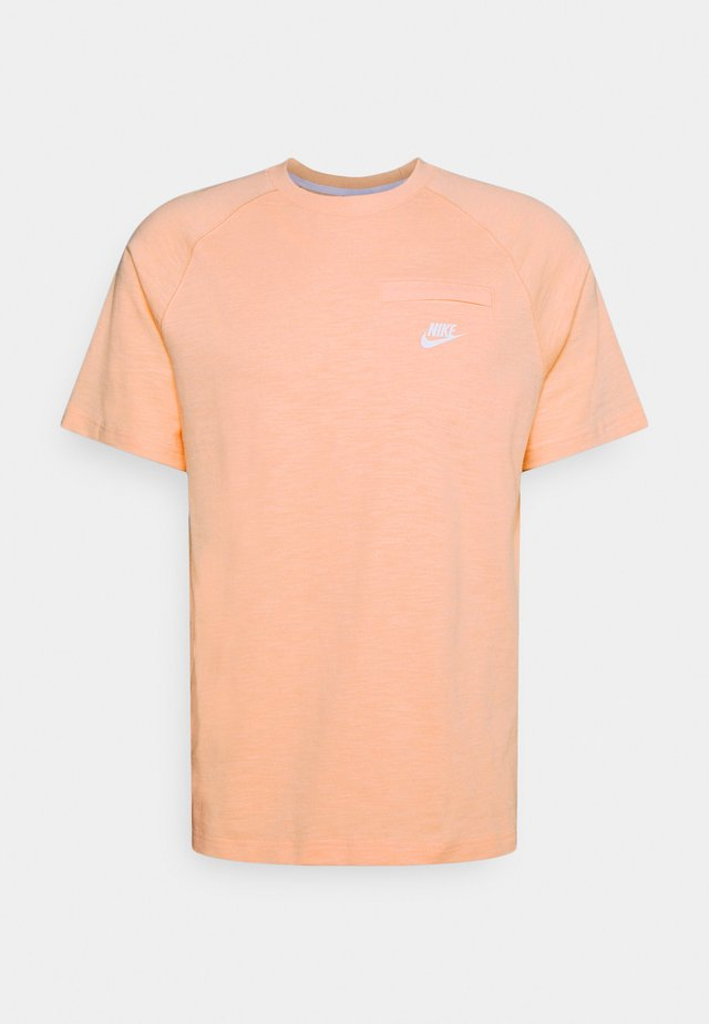 T-shirt basique - arctic orange/white
