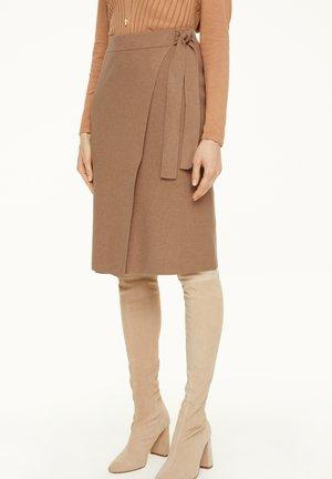 A-line skirt - chocolate melange