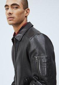Pepe Jeans - MOORE - Leather jacket - black - 3