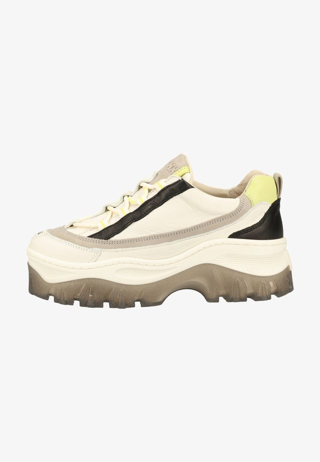 Trainers - off white/light grey/lime