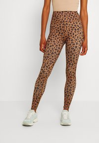 Never Fully Dressed - LEOPARD - Leggings - Trousers - brown - 0