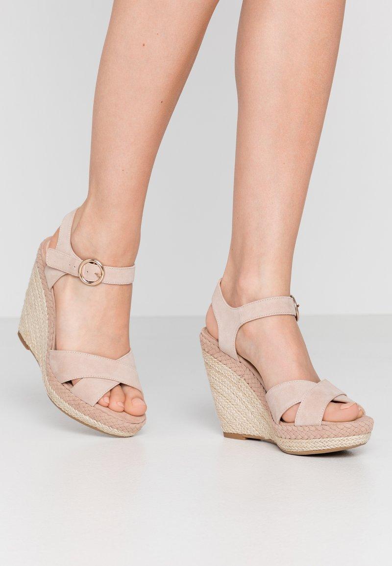 Anna Field - LEATHER - Sandaler med høye hæler - nude