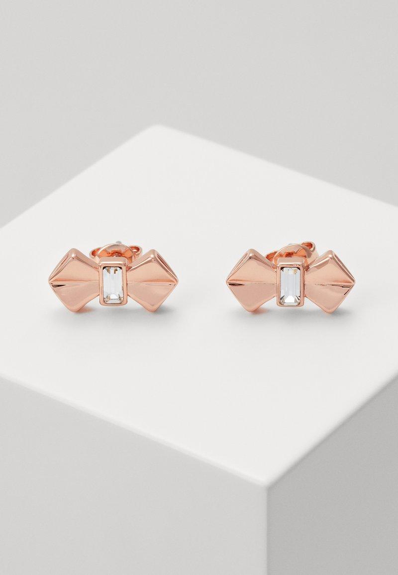Ted Baker - SUSLI BOW STUD EARRING - Earrings - rose gold-coloured