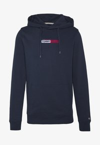 Tommy Jeans - TJM EMBROIDERED BOX HOODIE - Mikina skapucí - twilight navy - 4