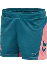 Hummel - ACTION - Sports shorts - blue coral/tea rose - 4
