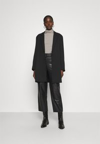 Gestuz - STORIA PANTS - Leather trousers - black - 1