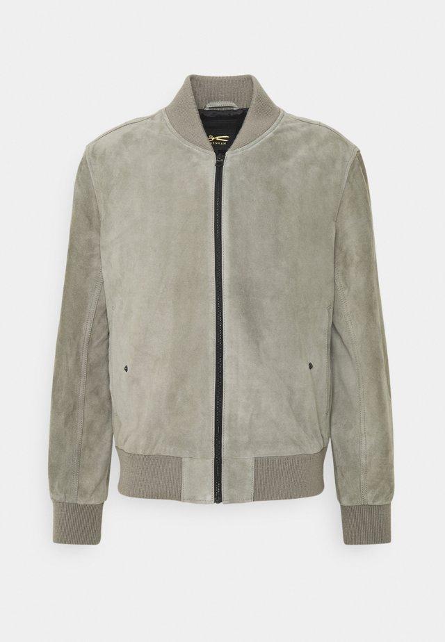 WOODFORD BOMBER  - Veste en cuir - grey