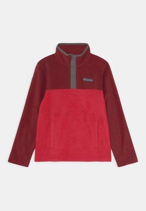 STEENS 1/4 SNAP UNISEX - Fleece jumper - mountain red/red jasper
