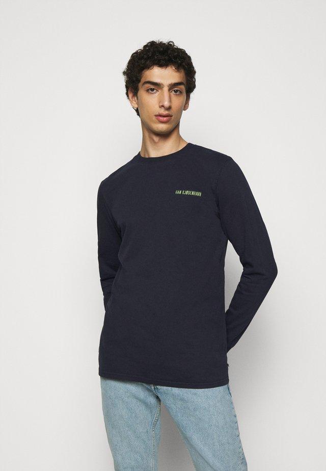 CASUAL LONG SLEEVE TEE - Maglietta a manica lunga - mood indigo