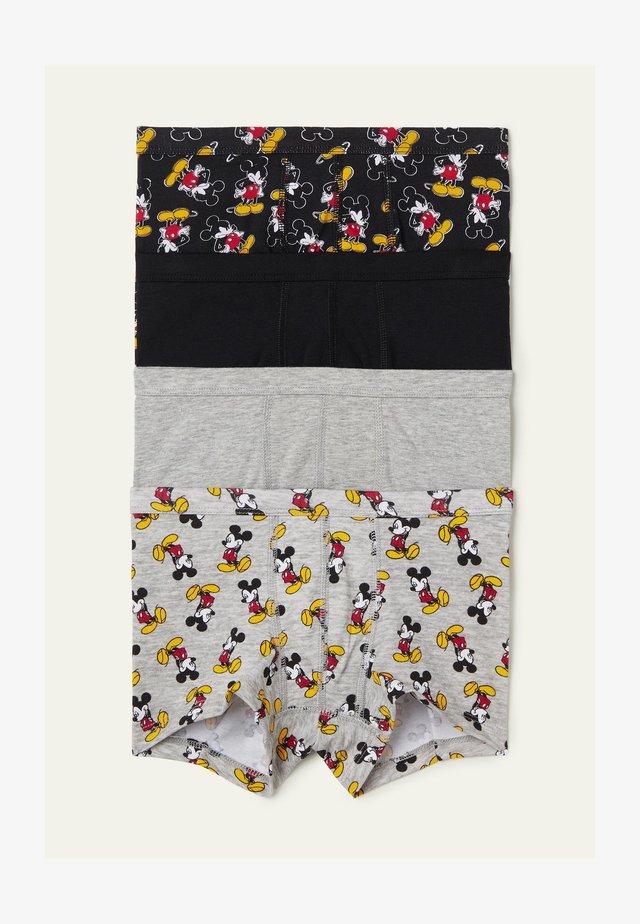 MIT MICKEY MAUS PRINT IM 4ER-PACK - Pants - schwarz - 8883 - black mickey mouse print
