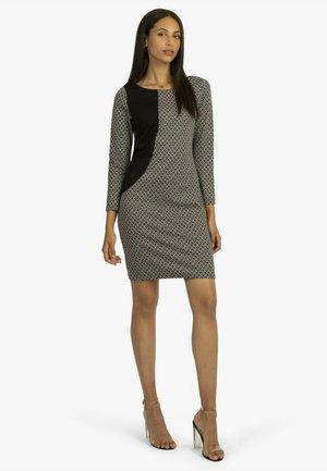 Shift dress - schwarz/weiß