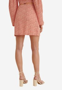 NA-KD - A-line skirt - painted floral coral - 1