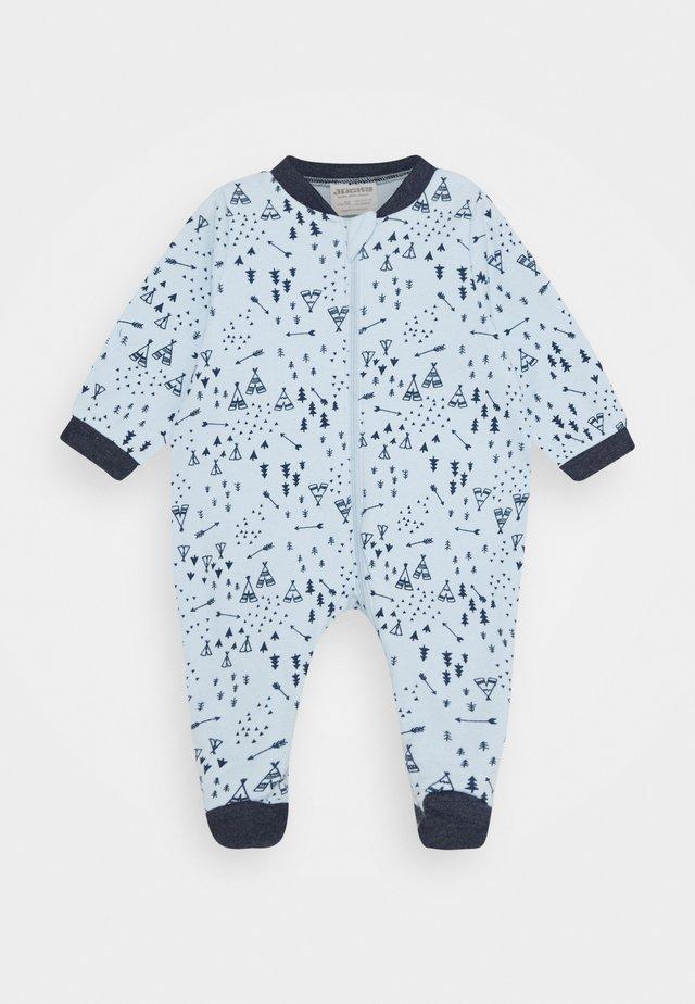SCHLAFANZUG NATIVE RACCOON - Pyjama - light blue