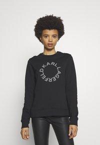 KARL LAGERFELD - CIRCLE LOGO - Sweatshirt - black - 0