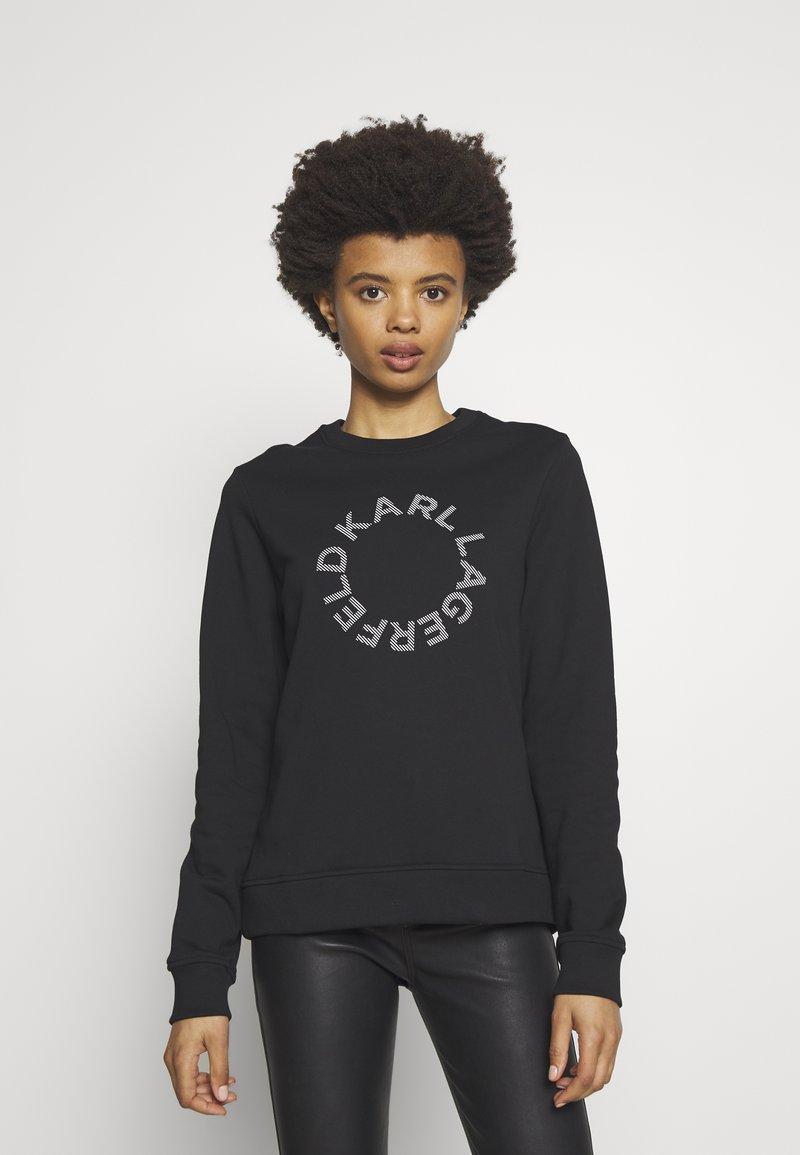 KARL LAGERFELD - CIRCLE LOGO - Sweatshirt - black