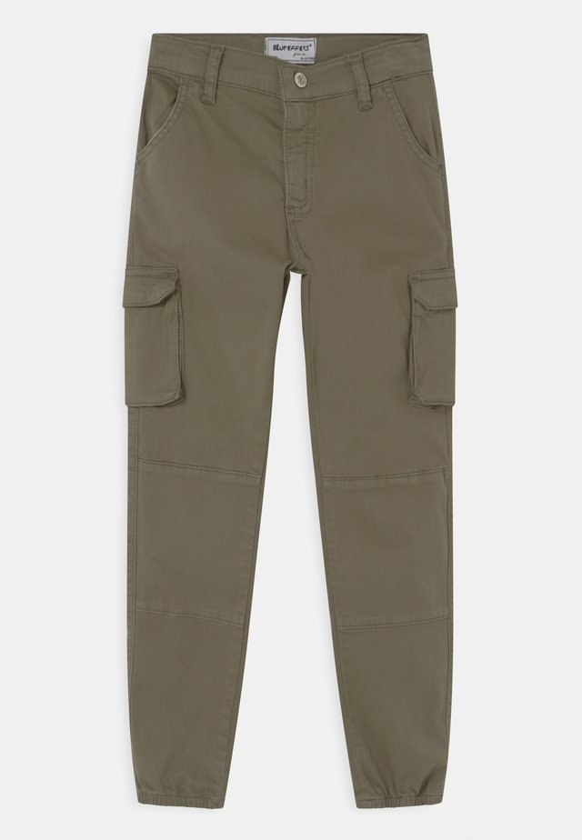GIRLS HIGH-WAIST RELAXED - Cargo trousers - zedergrün reactive