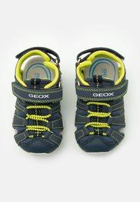 Geox - KRAZE - Walking sandals - navy/lime - 3