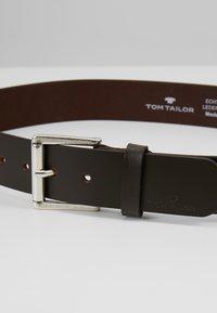 TOM TAILOR - Belt - dark brown - 4