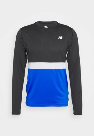STRIPED ACCLERATE - Long sleeved top - cobalt