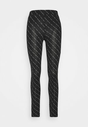JDYBOURNE AOP - Leggings - Trousers - black/city text