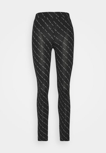 JDYBOURNE AOP - Leggings - Trousers - black/city text