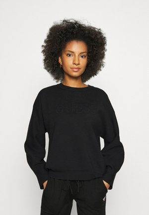 EMBOSSED LOGO - Pyjama top - jet black