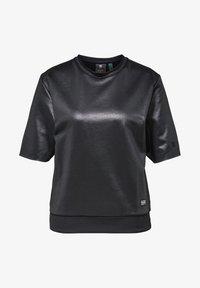 G-Star - GLOSSY JASMAR ROUND SHORT SLEEVE - Sweatshirt - dk black - 4